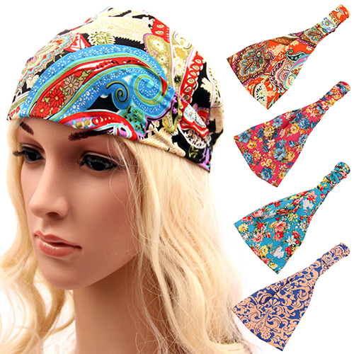 Detail Feedback Questions about Women Boho Floral Wide Bandana Headband  Elastic Head Hair Band on Aliexpress.com  fd9354acd7a