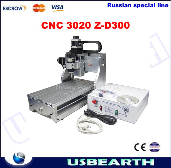 Mini CNC router 3020 Z-D300, woodworking router carving machine, free tax to Russia mini cnc router for woodworking