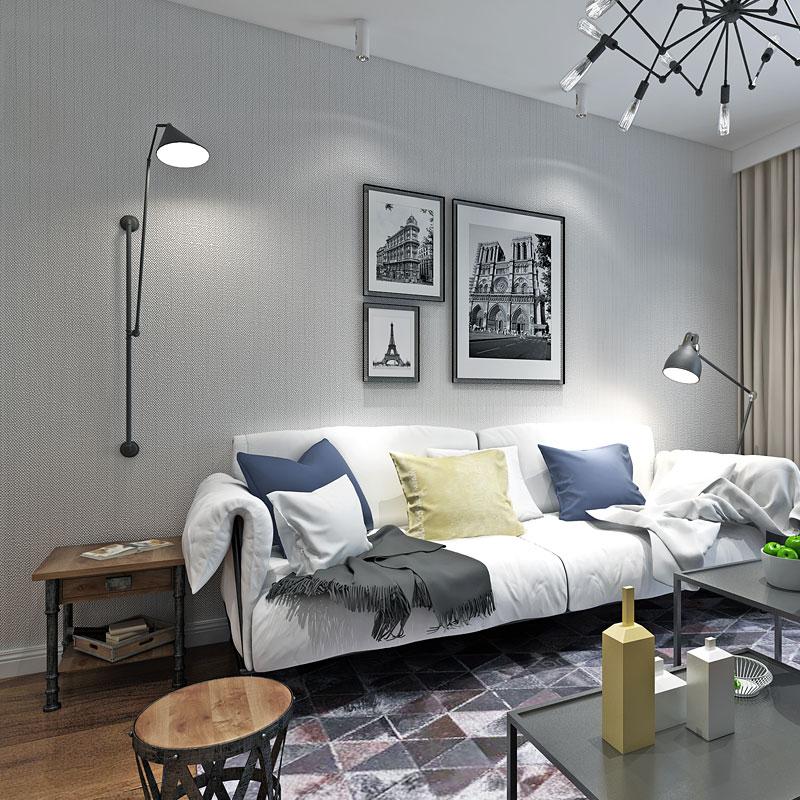 US $32.82 33% di SCONTO|Moderno Colore Solido Blu Scuro Grigio Wallpaper  Rullo per Pareti Soggiorno Camera Da Letto Per La Casa Carta Da Parati ...