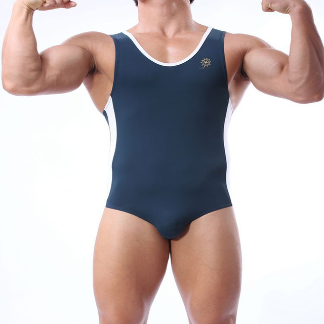Summer beach men swimming suit one piece high quality male swimwear solid breathable swimsuit gay comfortable  sc 1 st  AliExpress.com & Summer beach men swimming suit one piece high quality male swimwear ...