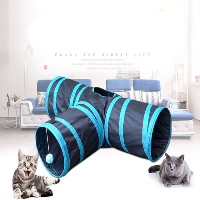 JJ016 Funny Y Shape 3 Ways Pet Foldable Toys Cat Tunnel Tent Nest Toys Home Folding  sc 1 st  AliExpress.com & JJ016 Funny Y Shape 3 Ways Pet Foldable Toys Cat Tunnel Tent Nest ...