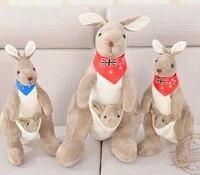 Cadeau pour bébé 1 pc 45 cm romantique australien kangourou en peluche poupée attente oreiller mignon nouveauté créative fille peluche
