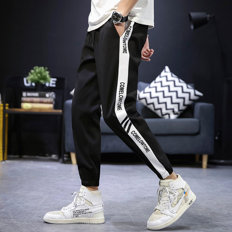 Casual Pants Trousers Loose Japanese Men's Summer Brand Slim Harbour-Style Nine-Minute