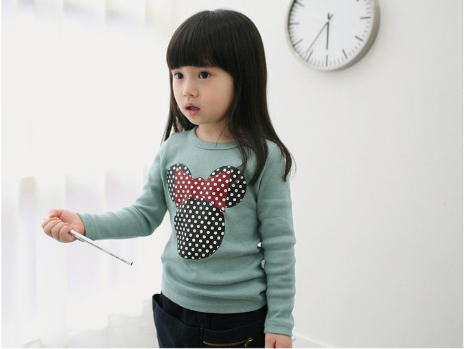 Kids Tees T-Shirts Children Clothes Girls Autumn Boys Long-Sleeve Cartoon Spring Candy