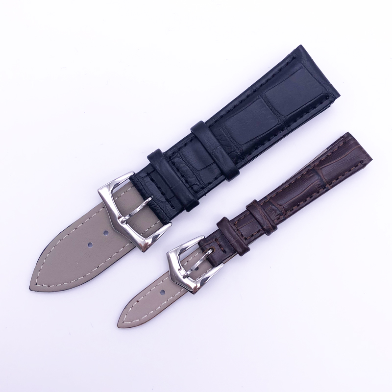 Watchbands Genuine Leather Watch Band straps12mm 14mm 16mm 18mm 19mm 20mm 22mm Watch accessories Women Men Brown Black Belt band in Watchbands from Watches