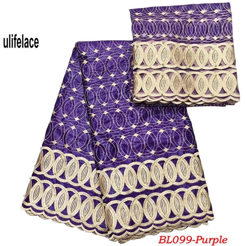 Black Getzner Brocade Bazin Riche 2019 With Matching French Mesh Lace For Nigerian Wedding Dress African Bazin Fabrics BL-099