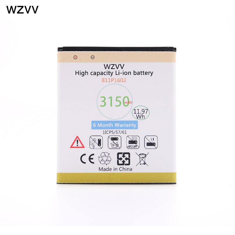 wzvv High Quality 3150mAh Replacement Battery B11P1602 for Asus Zenfone Go 5 ZB500KL X00AD X00ADC X00ADA + Tracking Code