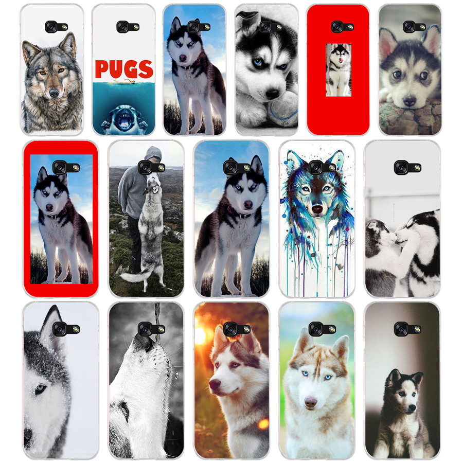 43G GOP <font><b>siberian</b></font> <font><b>husky</b></font> Soft TPU Silicone Cover Case for Samsung Galaxy A3 2016 A5 2017 image
