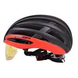 Księżyc ultralekki kask do jazdy konnej ulepszona autostrady kask z okulary wymienny bike gogle obiektyw kask a20