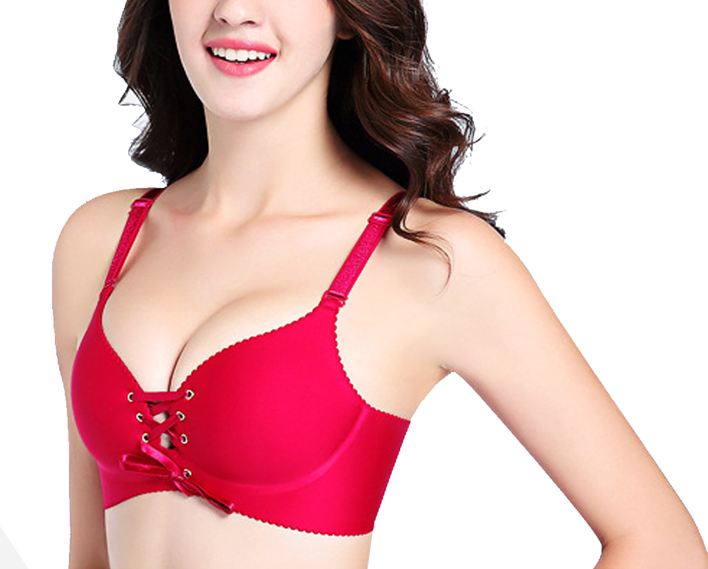 67c56a47f669d JasWell 2017 Female Big Size Sexy Seamless Bra Gather Adjustable Drawstring  Women One Piece Bras Underwear Lingerie Push Up Bra-in Bras from Underwear  ...