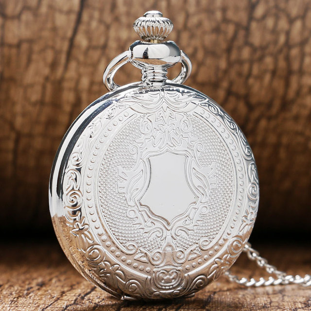 2016 New Arrival Fashion Silver Quartz Pendant Pocket Watch With Sweater Necklac