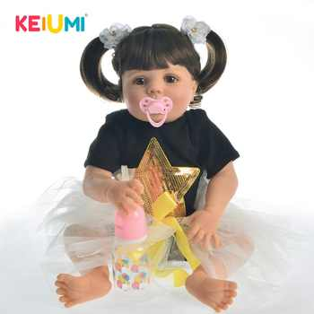 KEIUMI 23 Inch Realistic Reborn Dolls Full Body Silicone Pure Handmade Baby Toy For Sale Children Birthday Christmas Gift - DISCOUNT ITEM  37 OFF Toys & Hobbies
