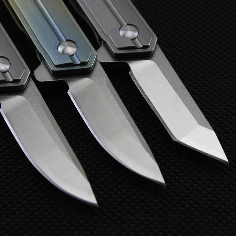 58-60HRC мини брелок карманный нож D2 лезвие TC4 Титан ручка складной нож EDC карманный нож открытый инструмент выживания кемпинг