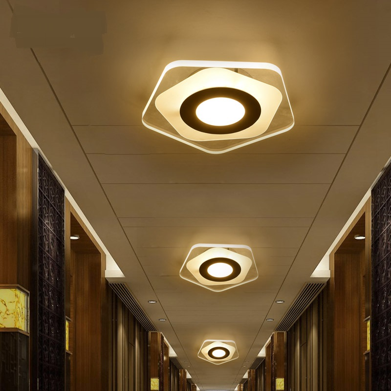Modern ceiling LED corridor Ceiling Lights lamp entrance hall light balcony storage creative lighting Ceiling lamps FG160 bright colorful led lamp installed inside the entrance hall light corridor lamp ceiling lamp lamp stunning