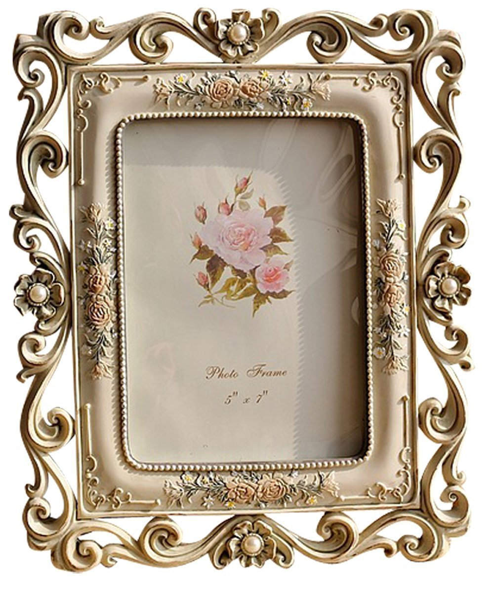 Floral Wedding Photo Frames 5x7 Picture Frames Table ...