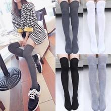 LNRRABC 1Pair Sexy Stocking Stockings Over the Knee Socks Long Women Thigh High Hot Sale Popular Warm Cotton