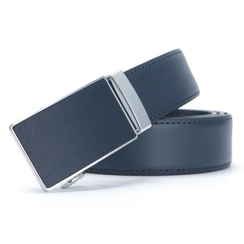 Mens Leather Ratchet Automatic Buckle Leather Belt for Men Genuine Leather Dress Belt Holeless Automatic Sliding Buckle Belts leo tolstoy the kingdom of god is within you