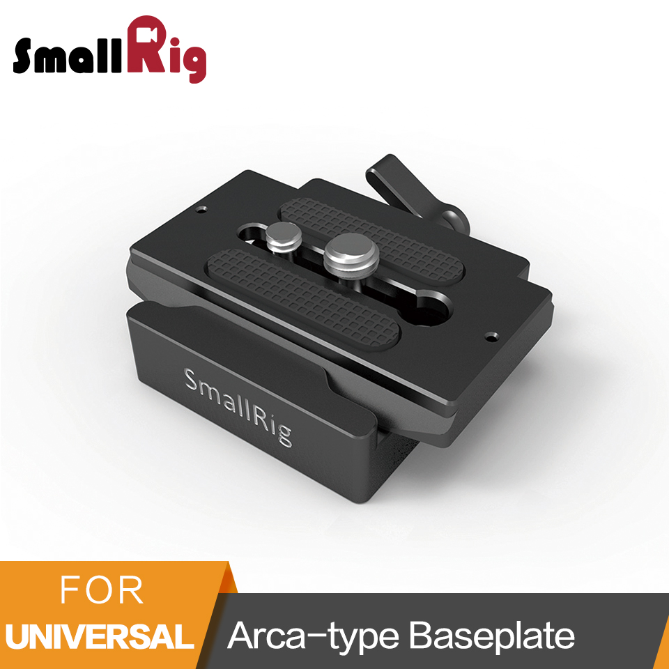 SmallRig Universal Quick Release Clamp and Plate Arca type Compatible Baseplate For Mirroless And DSLR Cameras