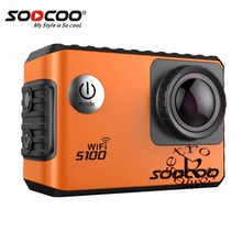 """SOOCOO S100 4K Wifi Action Sports Camera Built-in Gyro with GPS Extension(GPS Model Optional) waterproof HDMI 20MP ultra 2.0"""""""