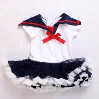 Sailor Navy Neonate Vestiti TUTU Vestito di Un Pezzo Vendita Calda