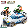 GUDI City Police Series Building Blocks Police Chase Blocks Assembled Toys Cops N Crocks Children Toys Gift