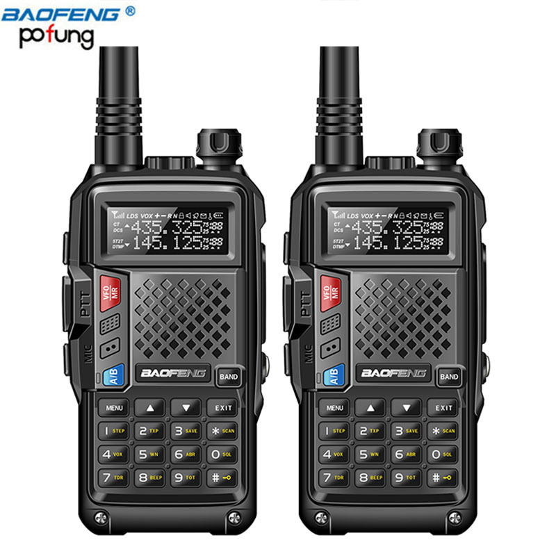 2PCS 2019 Baofeng BF UVB3 PLUS Walkie Talkie 8W Powerful UHF VHF Dual Band 10KM Long