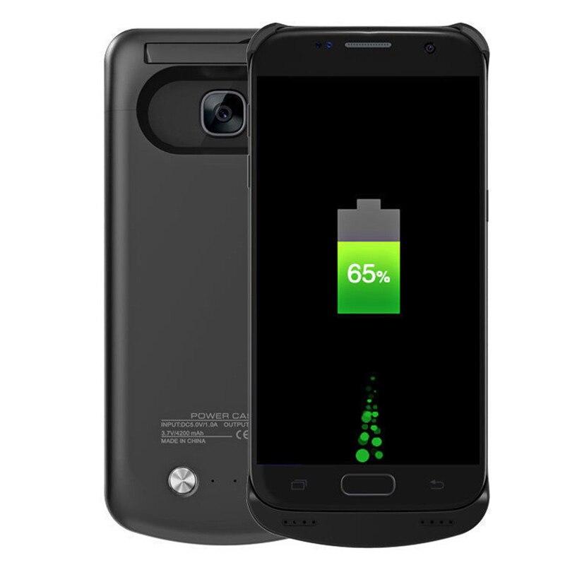 bilder für Für Samsung S7 Ladegerät Fall Externe Unterstützungsladegerät fall Energienbank Abdeckung Fall Für Samsung Galaxy S7 S7 rand