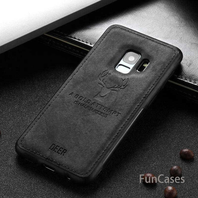 Tela de tela ciervos caso de teléfono para Samsung J6 J4 Plus 2018 J8 atrás de la funda de silicona suave para Samsung J6 J7 j5 J3 Pro Grand Prime 2017