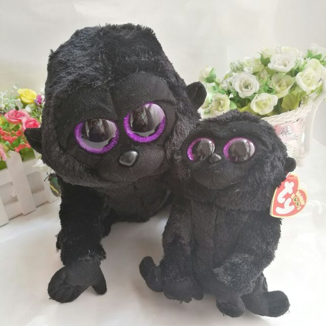 88d097876e4 George gorilla chimpanzee 15CM 6  and 25cm In Stock Original Ty Beanie Boos  Big Eyed