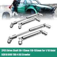 2 PCS Stahl Raupen Antriebswelle CVD 90-115mm 110-155mm für 1/10 RC Auto SCX10 90021 90028/RC4WD/TAMIYA CC01/D90/TRX-4