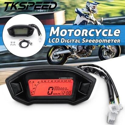 Universal Motorrad Lcd-digital-geschwindigkeitsmesser Hintergrundbeleuchtung Motorrad für 1,2, 4 Zylinder