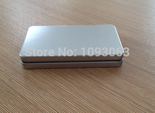Pack of 10 square metal box container business card poker bank pack of 10 square metal box container business card poker bank credit card holder storage matt silver in storage boxes bins from home garden on colourmoves