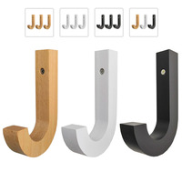 3 pcs 현대 진짜 단단한 나무 특별한 j 디자인 가정 장식적인 걸이 장식적인 걸이  창조적 인 걸이  특별한 편지 j 디자인