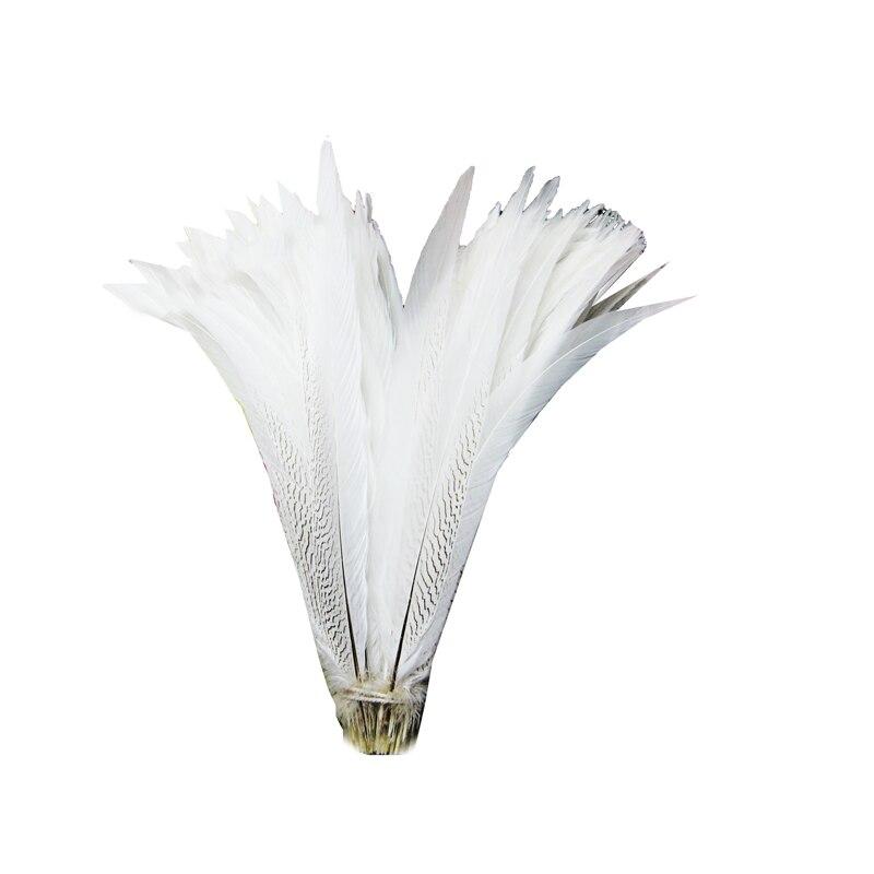 Natürlich Silber Fasan Federn 4-32inch//10-80 Cm 50 Stück Diy Karneval Kostüm
