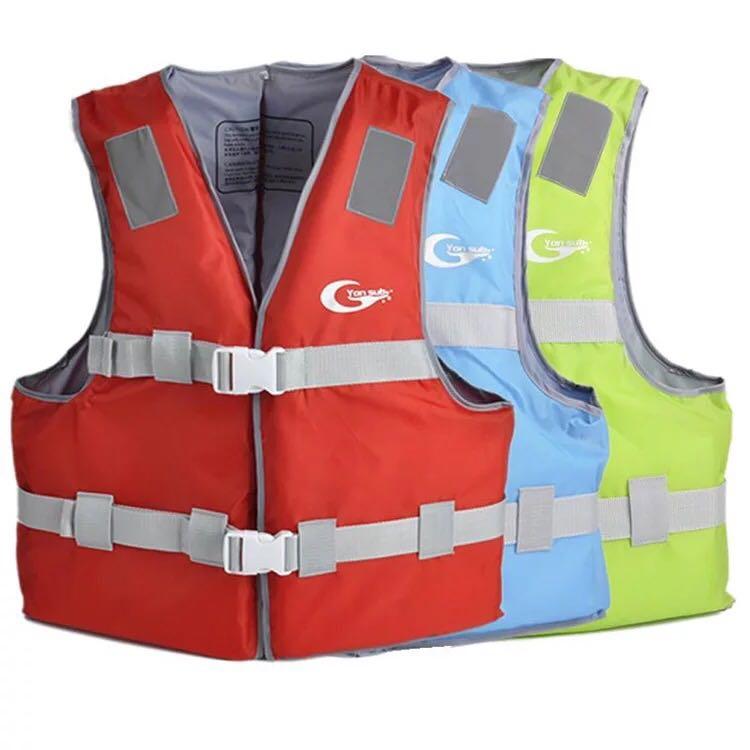 Полиэстер взрослых дети спасательный жилет куртка плавание на лодках лыжи дрейфующих спасательный жилет со свистком S XXL размеры водных видов спорта Для мужчин куртка