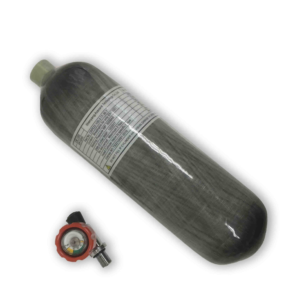 AC121711 High Pressure 4500psi Tank 2.17L CE Carbon Fiber Cylinder For Diving/Pcp Air Gun Or Paintball Tank With Valve Acecare