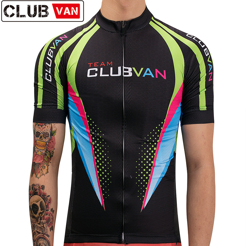 d5f56770a clubvan 2018 Pro Cycling Jersey Summer Mtb Clothes Short Bicycle Clothing  Maillot Cycliste Ropa Ciclismo Camisa