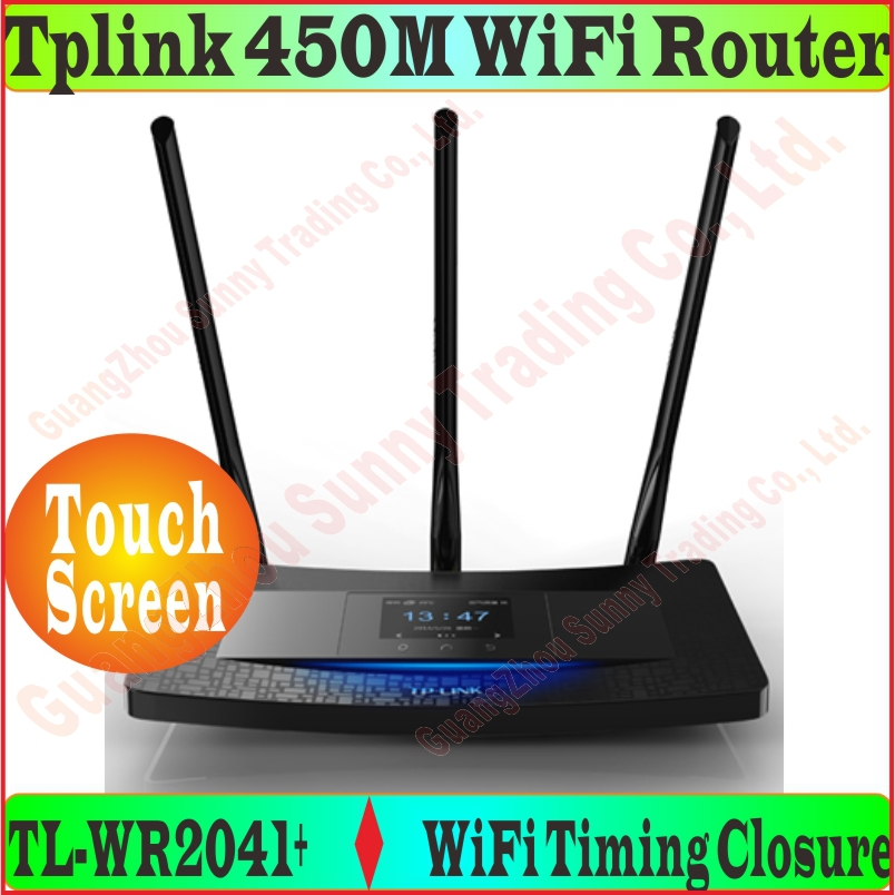 Chin Firmware 3 Antennas 450Mbps Wireless Router With Touch Screen TP Link N450 TL WR2041 450M