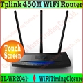 Queixo-Firmware 3 Antenas 450 Mbps Roteador Sem Fio Com Tela Sensível Ao Toque TP-Link TL-WR2041 N450 + 450 M AP Bridge WDS, TL WR2041 + PROM5