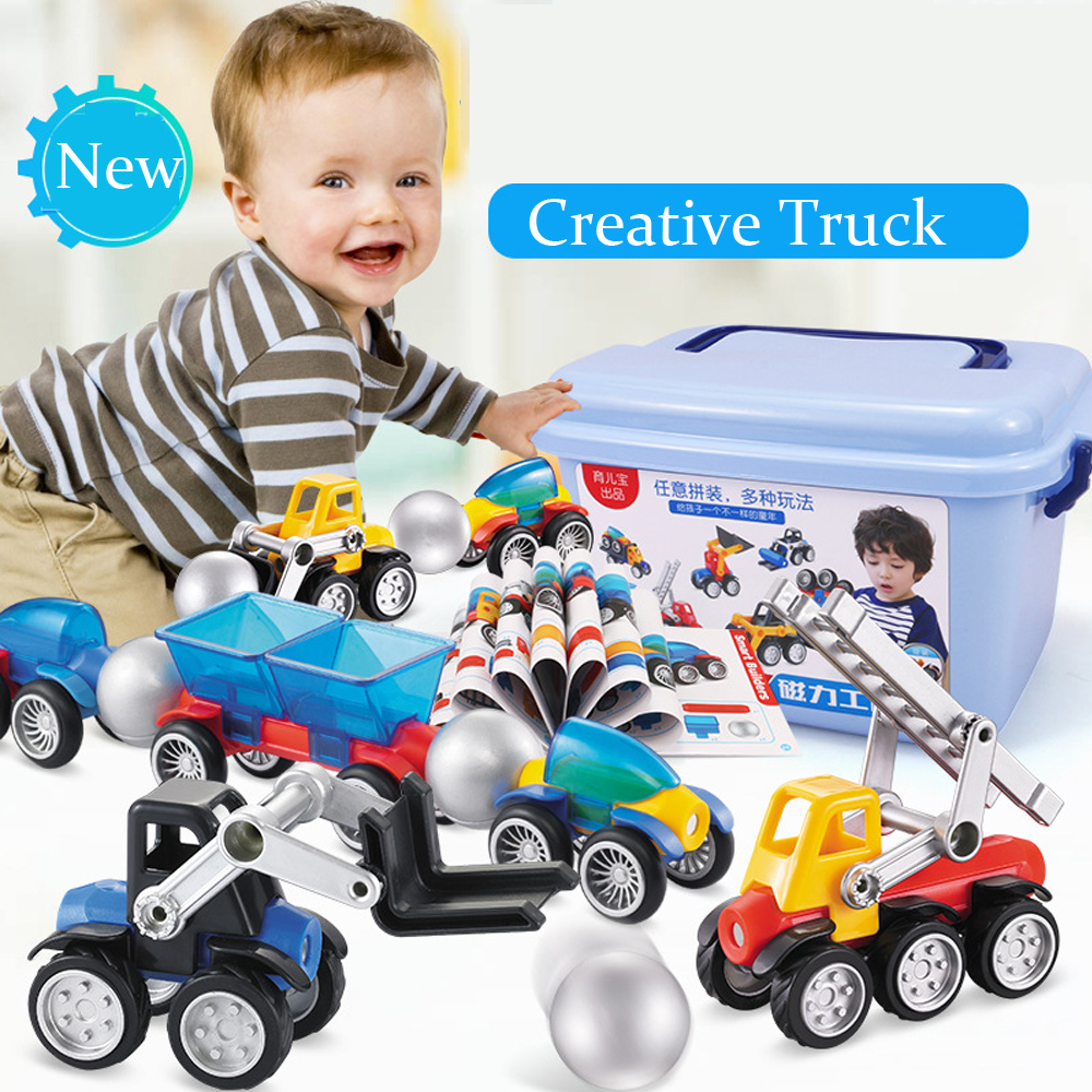 Magnetic Designer Pipe Building Blocks DIY Construction Cars Model Set Boy Kids Funny Magnets Bricks Games Children Toys Gifts 1 set magnetic building block toys for babys kids children magnets training children diy designer educational toys