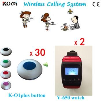 30 Call Button 2 Watch Factory Manufacturer Wireless Restaurant Table Waiter Calling System