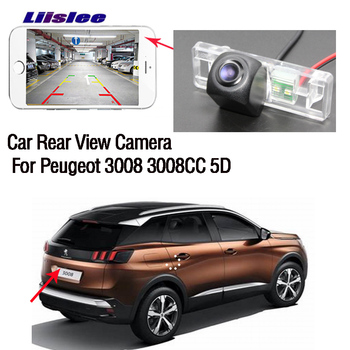 LiisLee new wireless Rear View Camera For Peugeot 3008 3008CC 5D Waterproof Night Vision HD camera +high quality