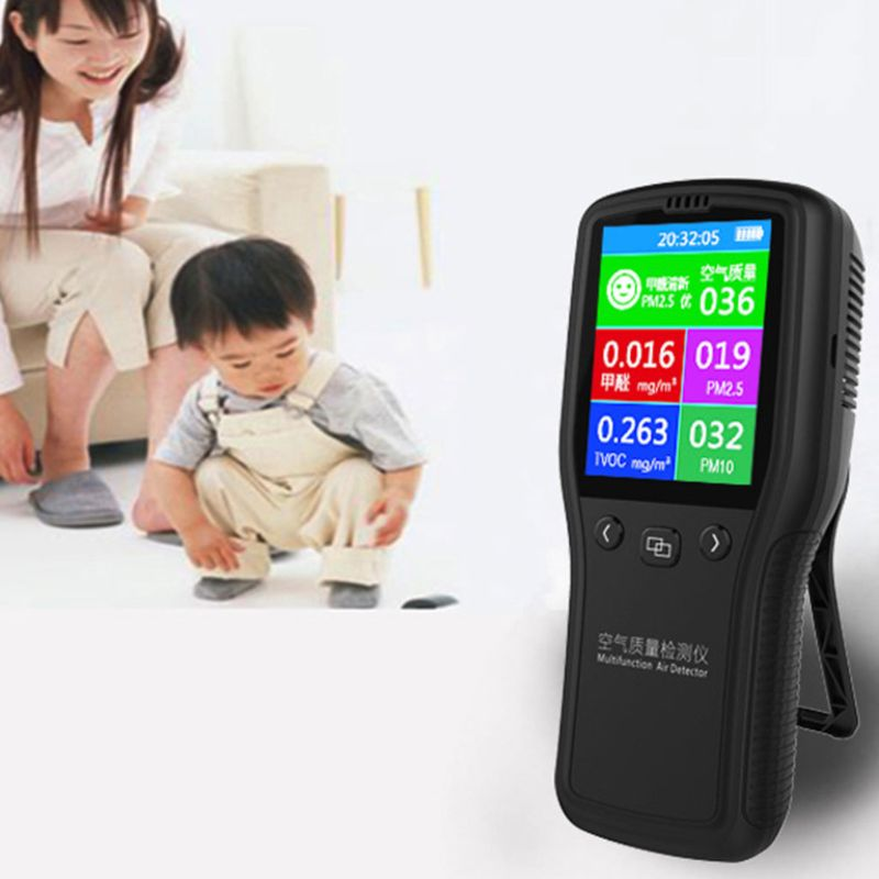 PM2.5 Detector Air Quality Monitor Digital Testing Appliance For Supervising Formaldehyde TVOC PM2.5 PM10 HCHOPM2.5 Detector Air Quality Monitor Digital Testing Appliance For Supervising Formaldehyde TVOC PM2.5 PM10 HCHO