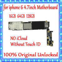 for iPhone 6 4.7inch Motherboard 16gb 64gb 128gb ,with IOS System Original unlocked for iphone 6 Logic board without Touch ID
