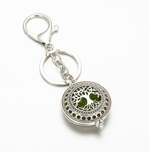 Exquisite Tree Of Life Aromatherapy Box Can Open Pendant Keychain Female Fashion Jewelry Wholesale  +2 shiny mat HJ732