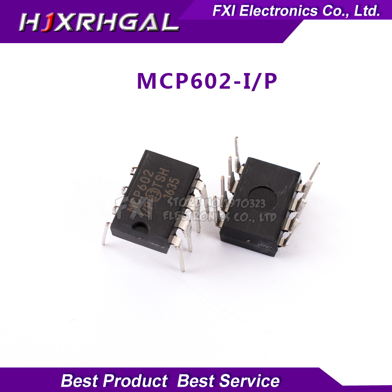 10PCS MCP602-I/P MCP602 DIP8 DIP 2.7V to 5.5V Sing new original free shipping