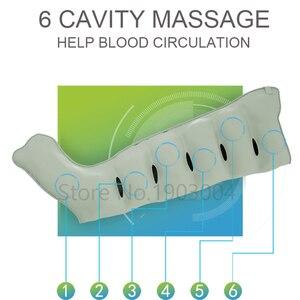 Image 3 - 6 cavidade elétrica compressão de ar perna pé massageador vibração infravermelho terapia braço cintura pneumática envoltórios de ar relaxar alívio da dor