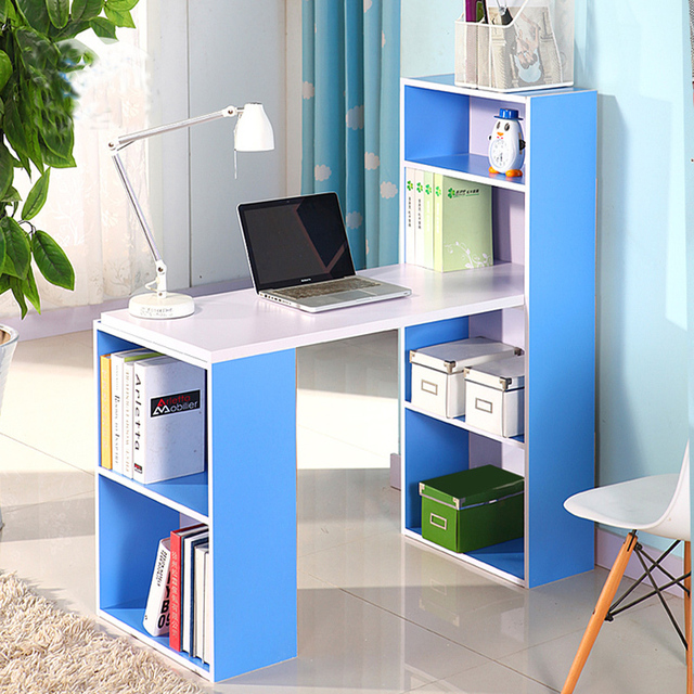 Children Desktop Computer Desk With Bookcase Ikea Stand Composition Book Tables Minimalist
