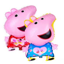 Newly Cute Pig Toy Children s Air Foil Balloons Cartoon Pink Pig for Children Funny font