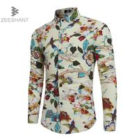 ZEESHANT Men Shirt Luxury Brand Male Long Sleeve Shirts Casual Buttons Up Hit Color Slim Fit